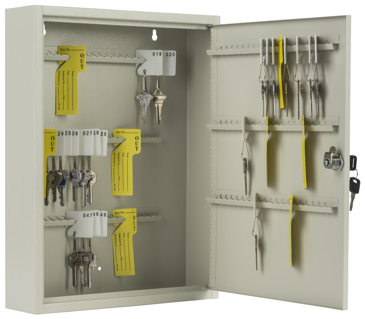 """120 Key Cabinet   """"Out"""" Tags & Record Log Included"""