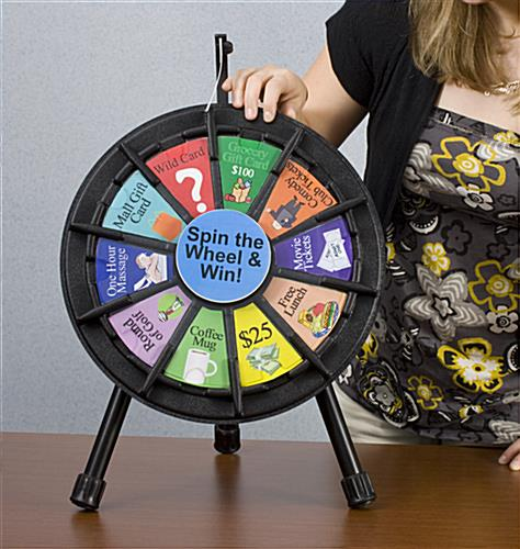 micromini prize wheel | micro - tabletop with printout slots, Powerpoint templates