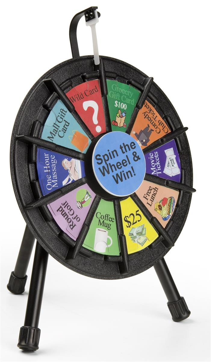 MicroMini Prize Wheel Micro Tabletop With Printout Slots