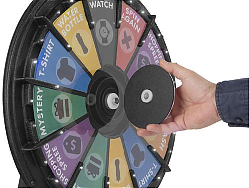Mini Spinning Raffle Wheel with Magnetic Center Plate