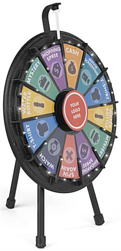 "Mini Spinning Raffle Wheel, 20.5"" Diameter"