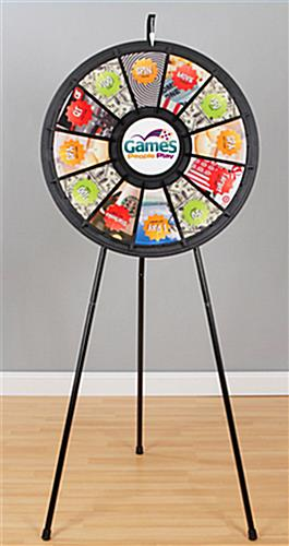 Spinning Game Wheel Adjustable Legs For Floor Or Tabletop
