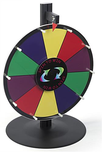 Tabletop Spin to Win Prize Wheel