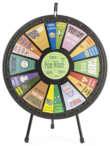 spin wheel game | tripod countertop stand & clicker, Powerpoint templates
