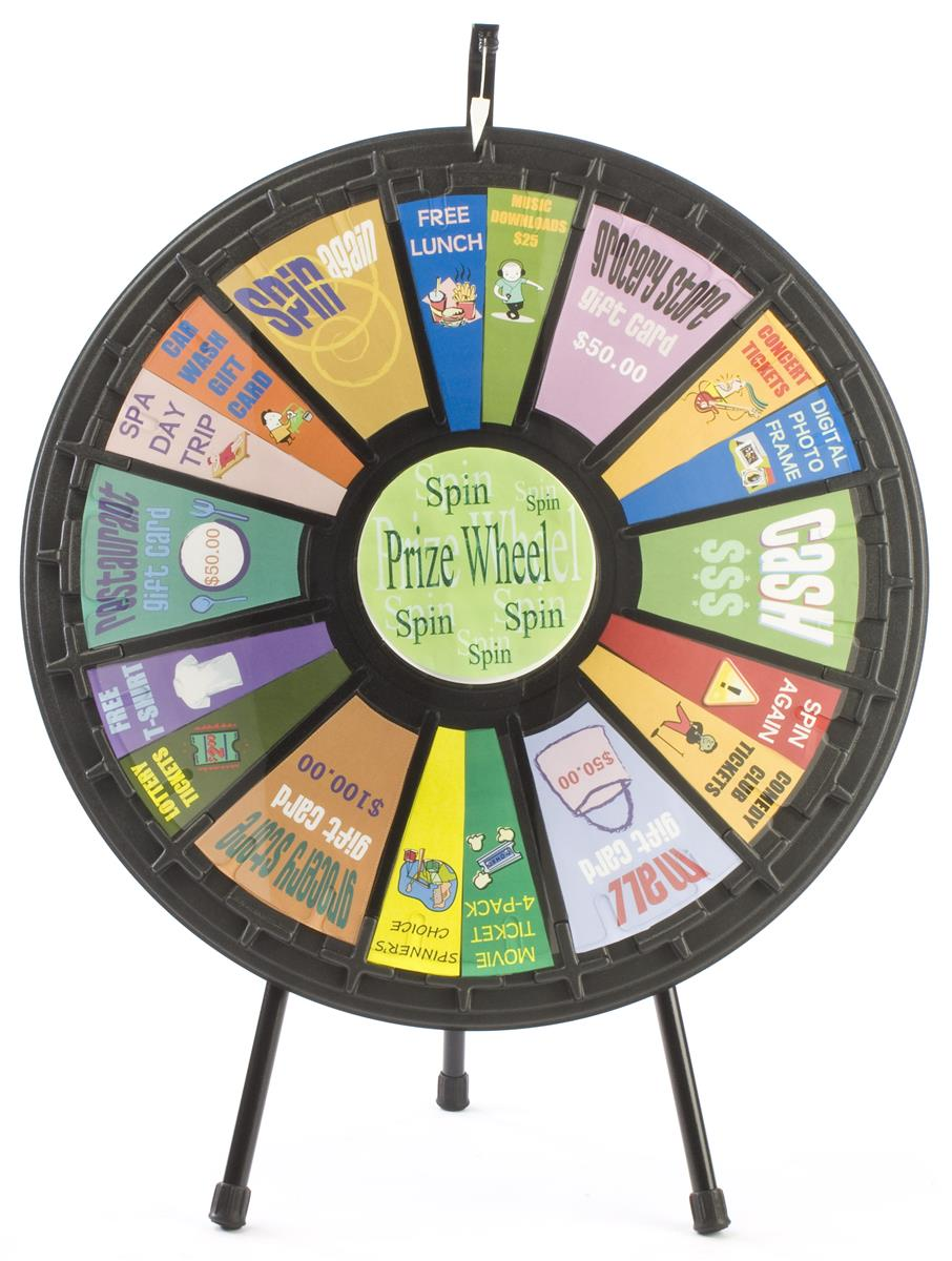 Spin Wheel Game Tripod Countertop Stand Clicker
