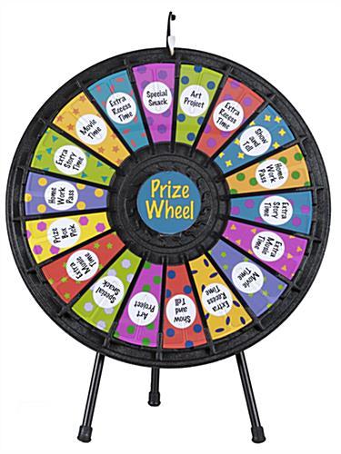 Prize wheel 18 slot w noisy clicker and printout slots prize wheel prize wheel maxwellsz