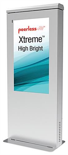 Fully sealed outdoor weatherproof kiosk