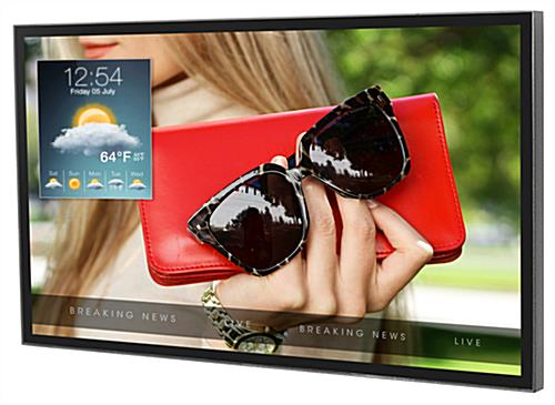Weatherproof outdoor digital TV display