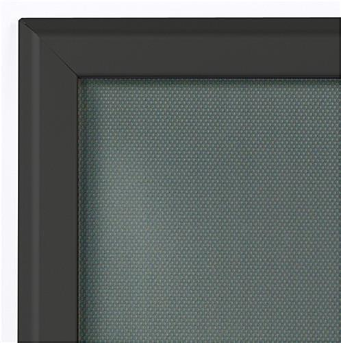 Wall Mounted Black 12 x 24 Snap Frame
