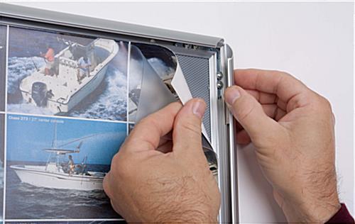 22x28 Economy Snap Frame w/ Quick Clip Edges & Silver Matte Finish