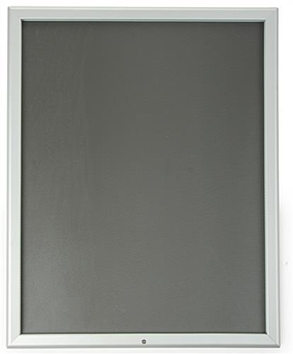 Lockable Snap Frame 22 X 28 W Silver Finish Set Screw