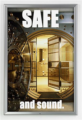 24 X 36 Poster Frame For Wall Snap Open With Lock 32mm Profile Silver