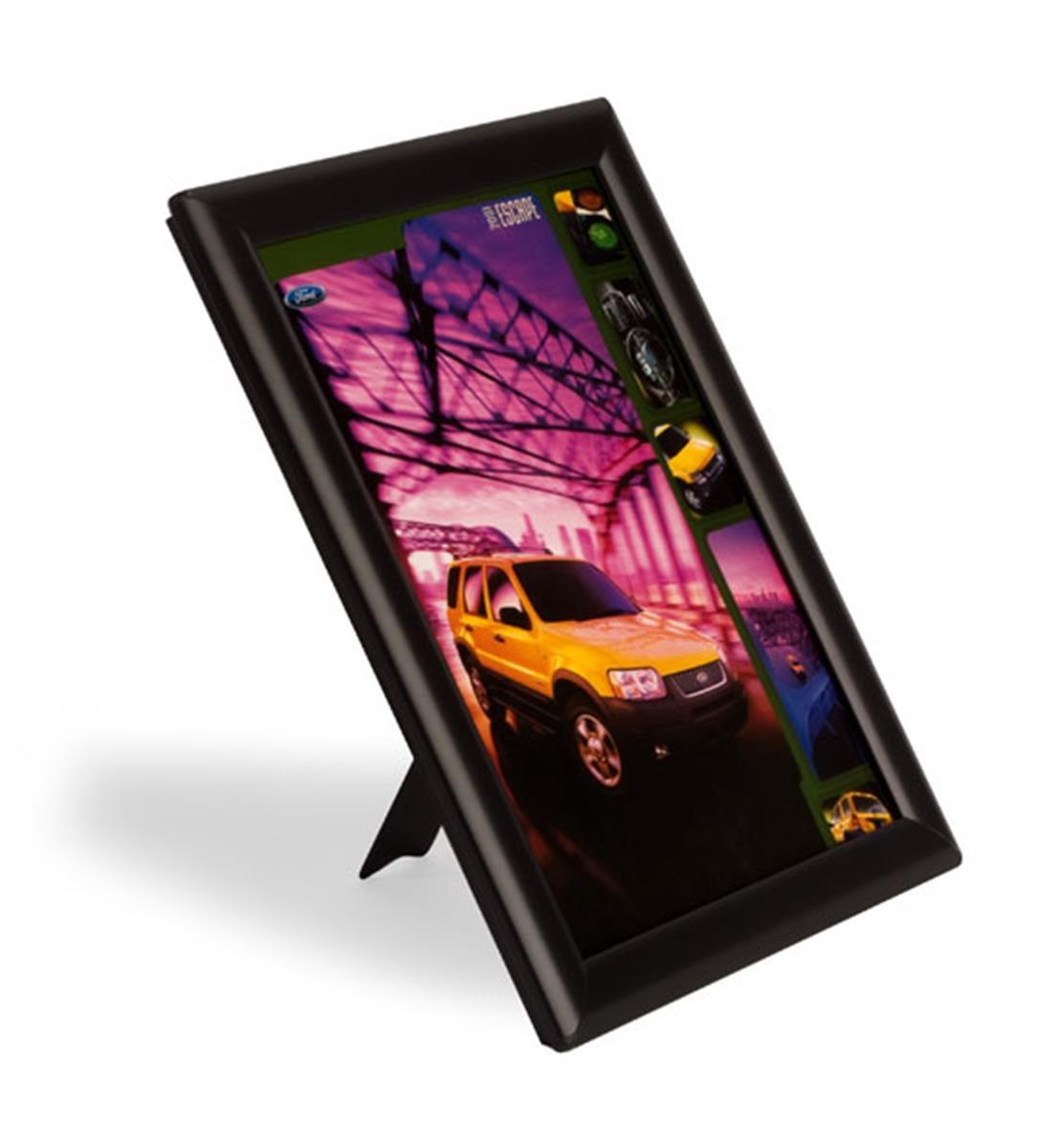 quick clip sign holder w snap frame for 8 5 x 11 prints. Black Bedroom Furniture Sets. Home Design Ideas