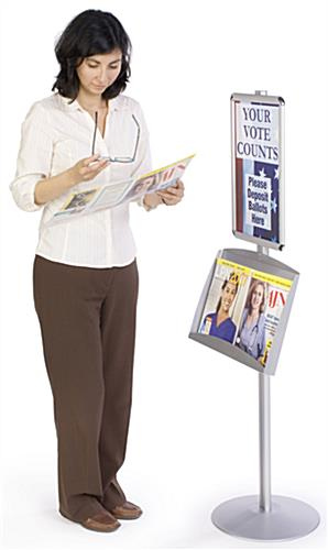 Sign Holders: w/Literature Pocket