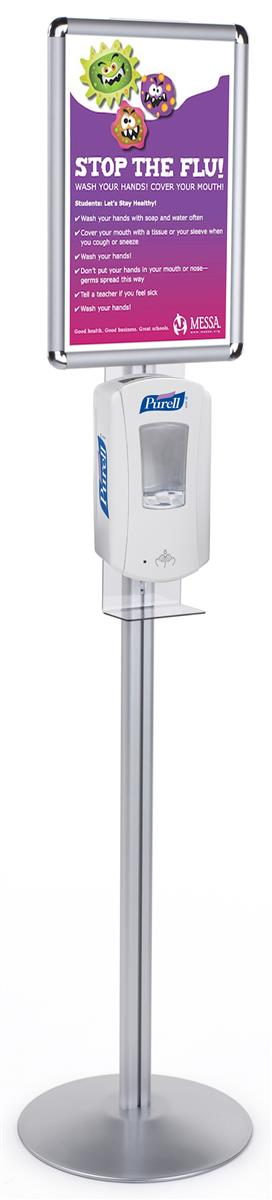 Sanitizing Station Purell Hand Sanitizer With Poster Frame