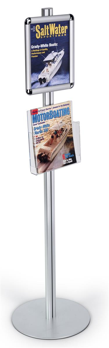 8-1/2 x 11 Free Standing Snap Frame w/ Acrylic Literature ...