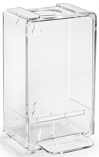 Standing sanitizer dispenser poster frame with acrylic holder