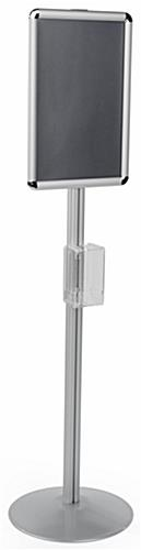 Poster floor stand with sanitizer mount with 56 inch height
