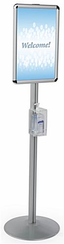 Silver Floor Standing Hand Sanitizer Holder
