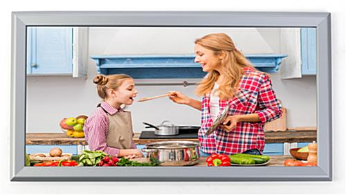 Silver 12 x 24 Snap Frame for Advertisements