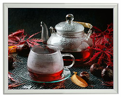 24x36 Frame for Wall Hangings Features Silver Profile