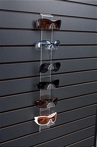 slatwall glasses display features 6 eyewear slots