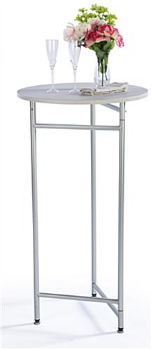 "44"" Tall Retail Table with White Melamine Top"
