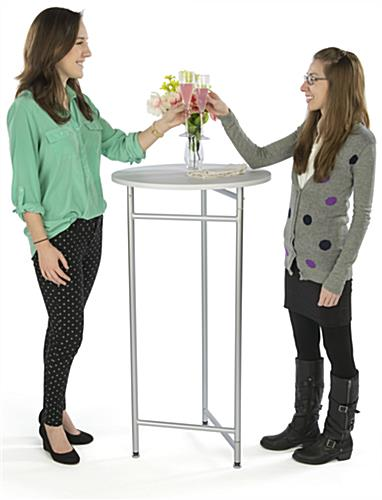 "44"" Tall Retail Table is Lightweight"