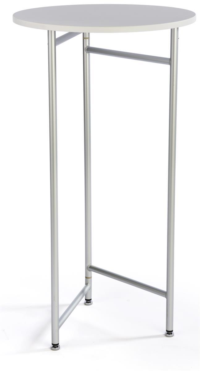 Folding Tall Table 44 Quot H White Pvc Mdf Plastic 23 5 Quot D