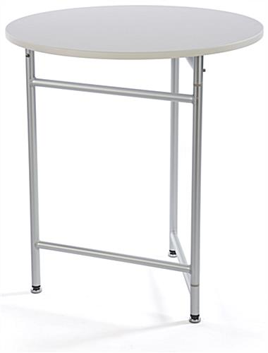 "30"" Trade Show Cocktail Table is Short"