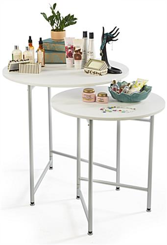 Round Retail Table Set 2 Units Included
