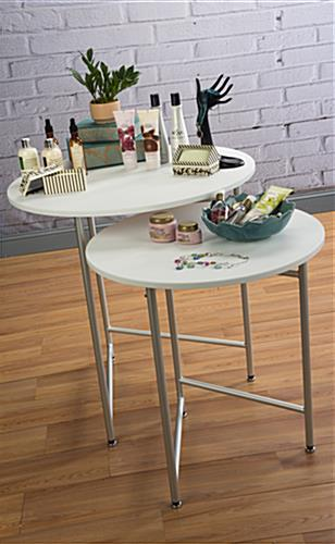 Round Retail Table Set for Merchandise