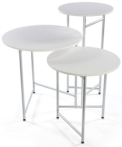 Trade Show Cocktail Table Set Made Of Lightweight Aluminum U0026 Melamine ...
