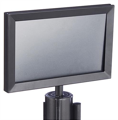 Stanchion Frames 11 X 7 Slide In Design Black