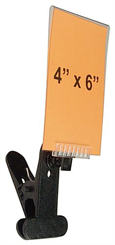 "4"" x 6"" Black Sign Clip"