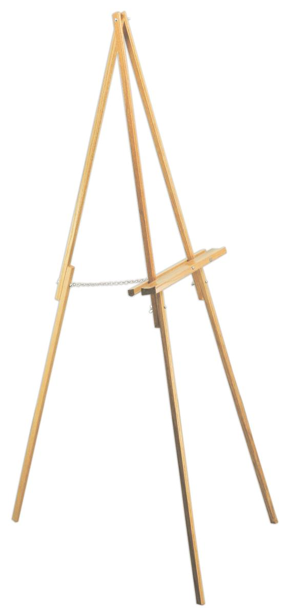 Easel Features Natural Oak Finish