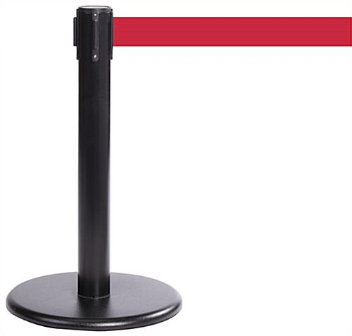 Mini Exhibit Stanchion with Protective Rubber Bottom