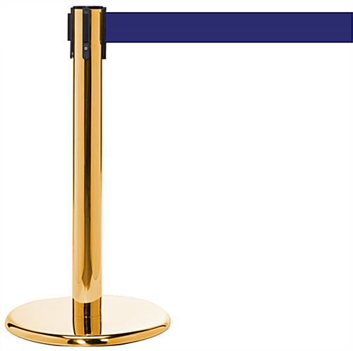 "24"" Crowd Control Post with Brass Finish"
