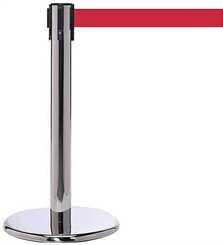 Mini Stanchion with Red Belt, Cast Iron Base