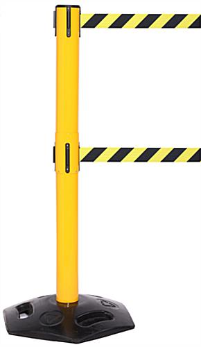 Weatherproof Dual Belt Stanchion, (2) 11' Straps
