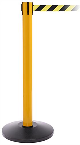 Yellow Steel Stanchion Barrier for Crowd Control