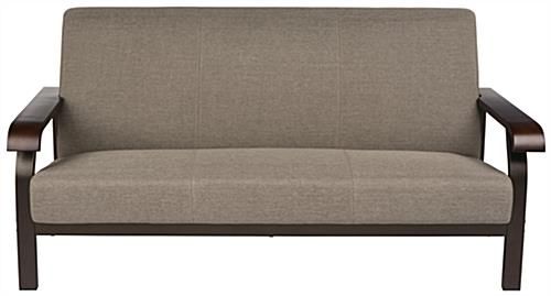 Office Reception Sofa Stainless Steel Frame