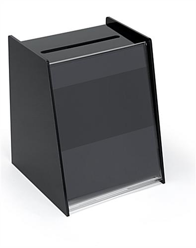 black acrylic ballot box