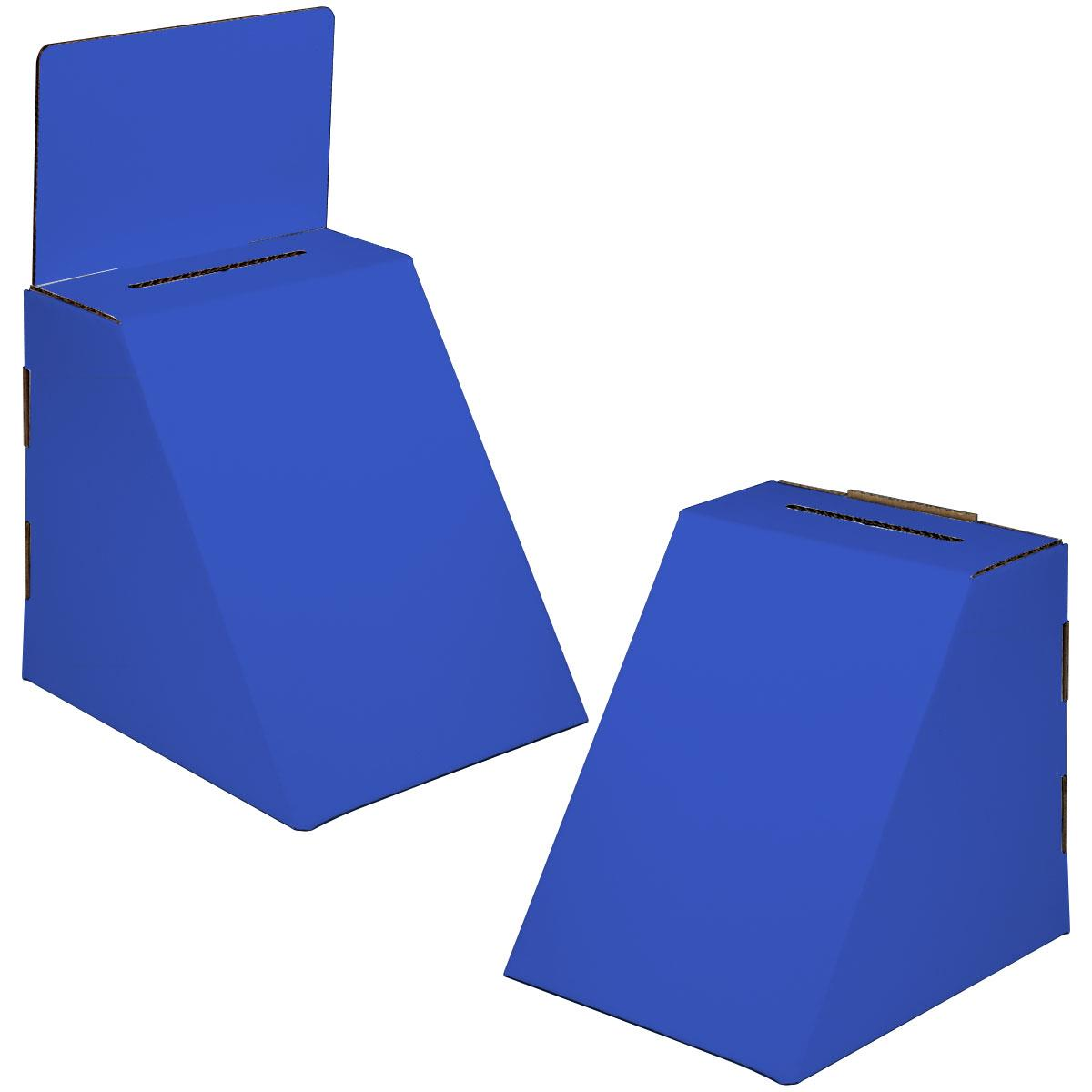 Displays2go Cardboard Ballot Box with 8.5 x 11 Slanted Fr...