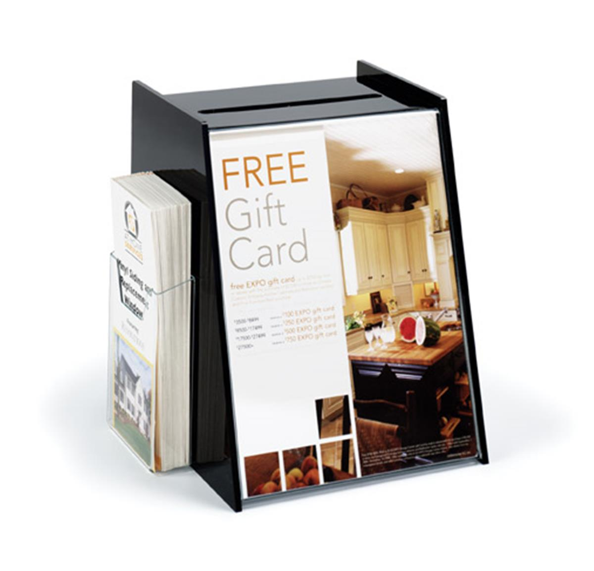 Displays2go Acrylic Ballot Box with 8.5 x 11 Sign Holder ...