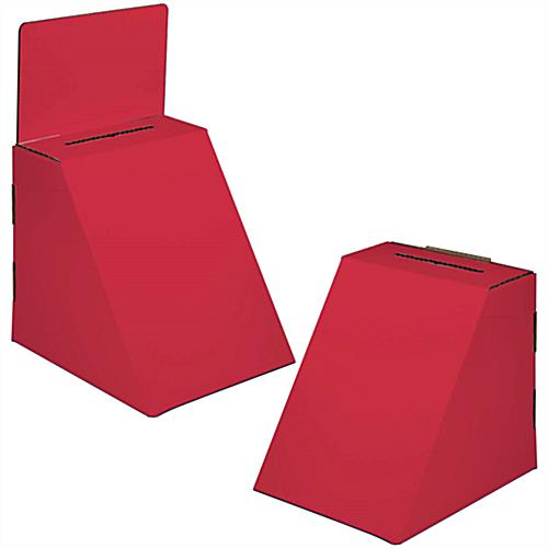 Red Cardboard Ballot Box