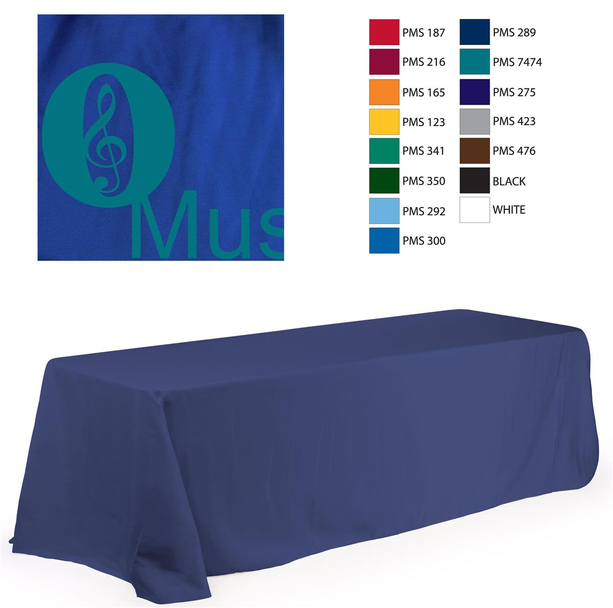 8 Table Cover With Logo For Trade Shows