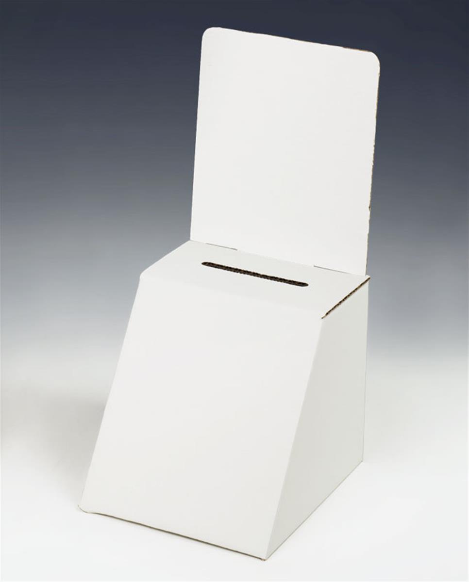 Cardboard Ballot Box w/5 x 7 Graphic Slot
