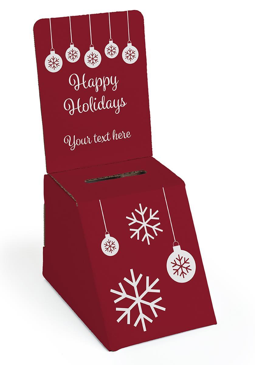 Seasonal Cardboard Donation Bin Removable Header