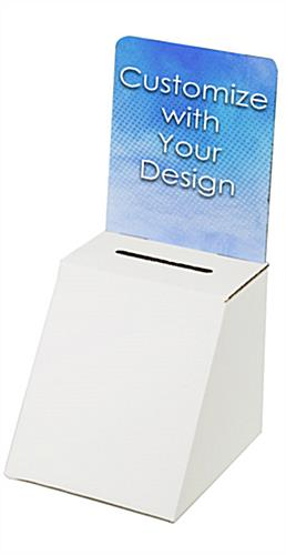 Custom cardboard entry box with full-color header